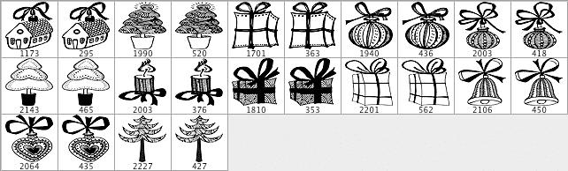 圣诞节套装笔刷包