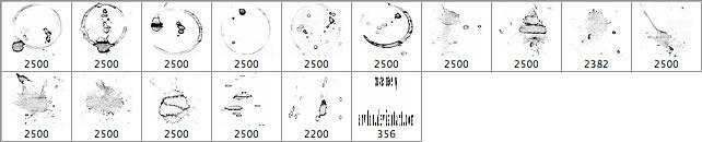 高分辨率水迹污渍笔刷