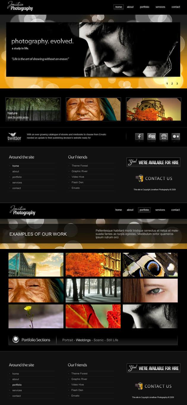 完整的商业模版psd素材 网页 商业网站psd模版 商业模版  web psd