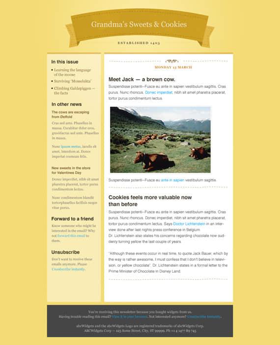淡黄色风格的个人博客模版
