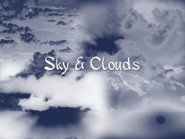 蓝天白云背景笔刷
