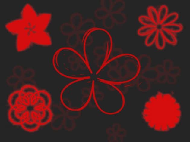 剪纸花纹笔刷
