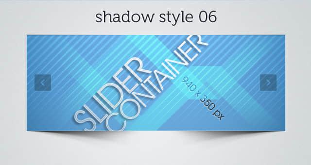 网站滑块阴影PSD素材包