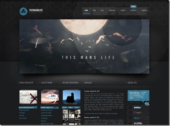 30个美丽的黑色系列主题为你的网页设计增加灵感