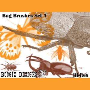 高分辨率昆虫笔刷集