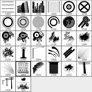 城市背景装饰元素笔刷