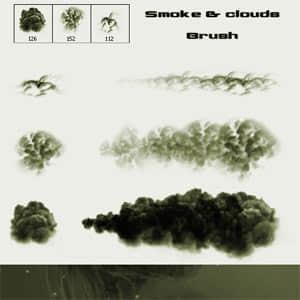烟雾和乌云笔刷