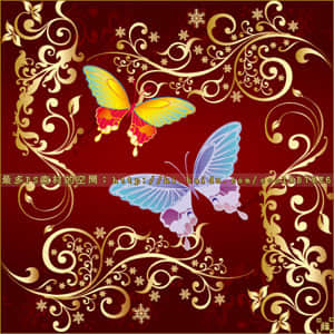 彩色蝴蝶笔刷