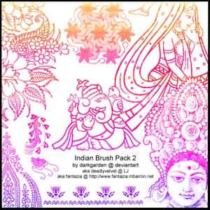 古印度人物佛像笔刷