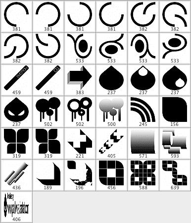 36个矢量符号笔刷