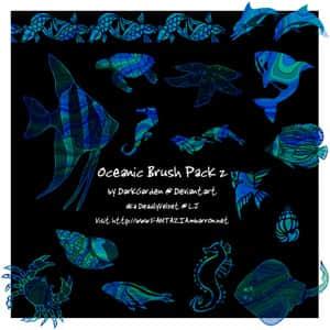 海底鱼类动物笔刷