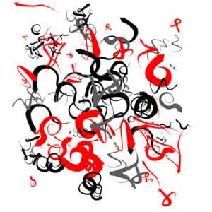 弯曲的涂鸦式箭头PS笔刷