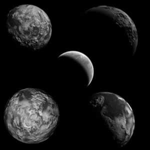 月球行星笔刷