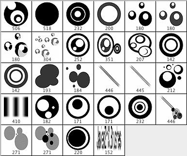 圆圈矢量背景笔刷