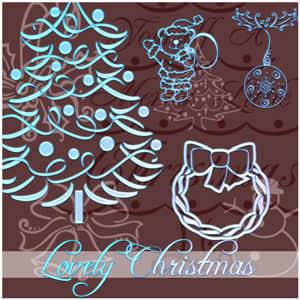 圣诞节元素笔刷