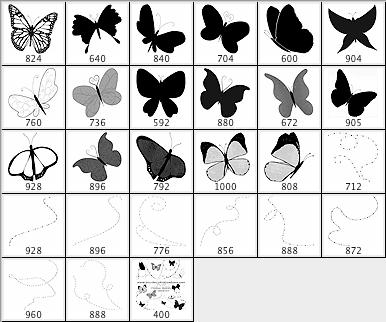 飞舞的蝴蝶笔刷