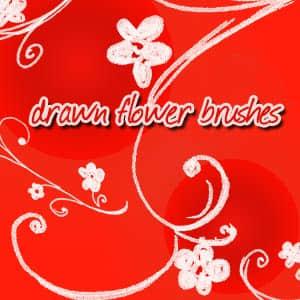 绘制的花卉笔刷