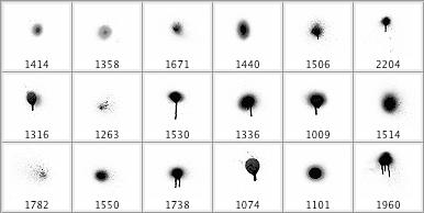 18个喷漆飞溅笔刷