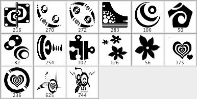矢量符号元素笔刷