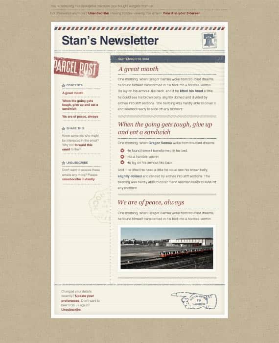 邮件信纸式个性化网站模版