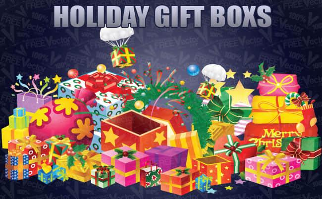 圣诞礼物盒矢量素材