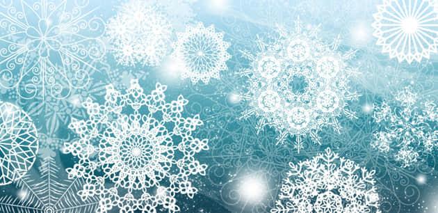 典雅的雪花花纹笔刷