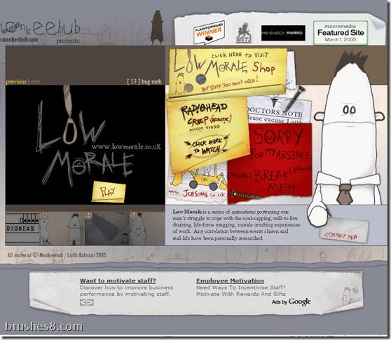 20个手绘式卡通网站