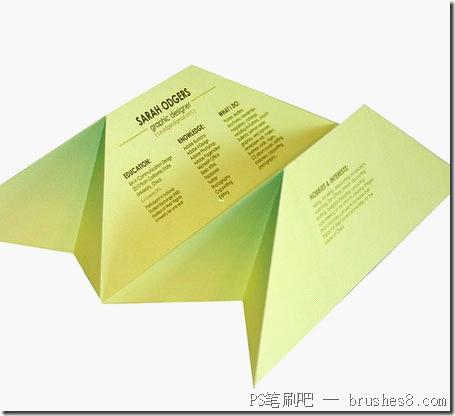 20个国外创意简历设计-造型夸张慎用