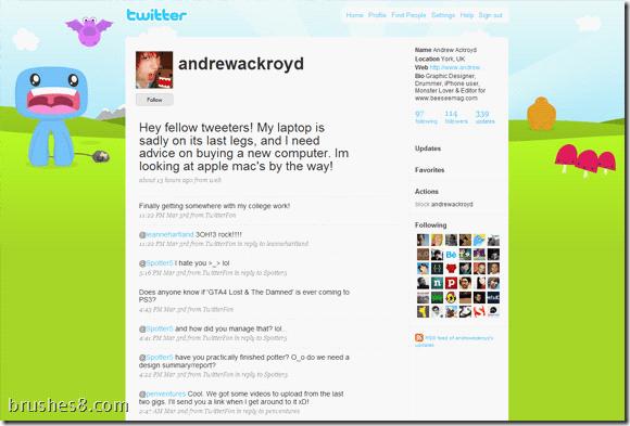 30个Twitter微博样式参考