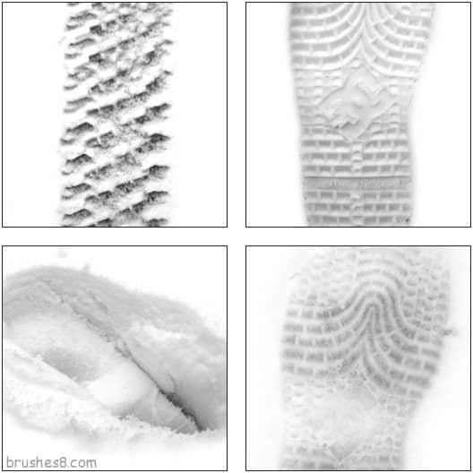 雪地脚印笔刷