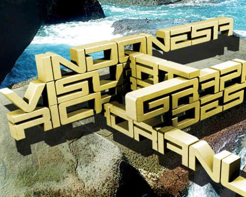 70个3D字体设计欣赏