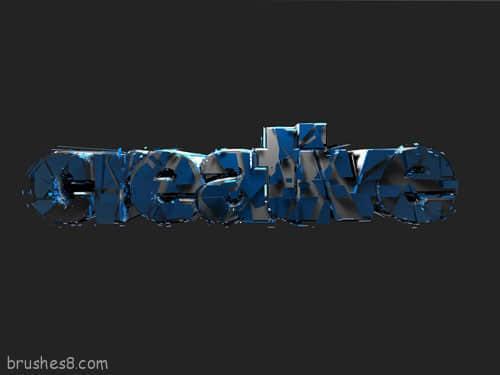 41个令人印象深刻的3D印刷出版物字体设计