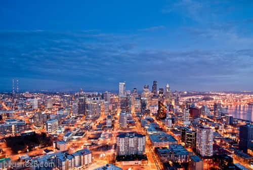 来自于世界各地的城市俯看摄影图