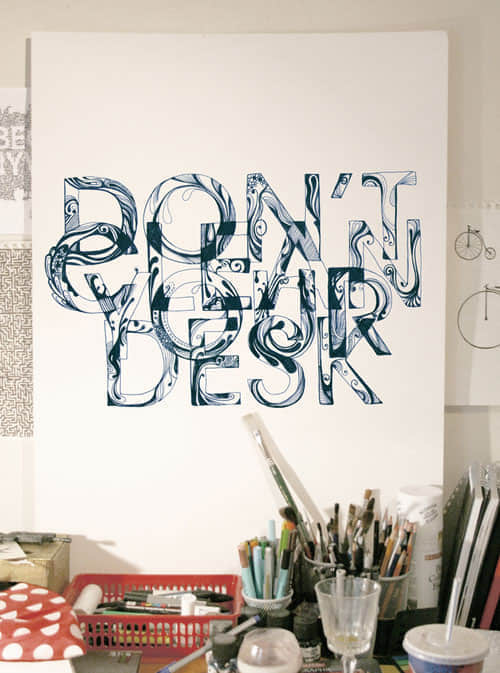 40个手绘字体艺术排版设计欣赏