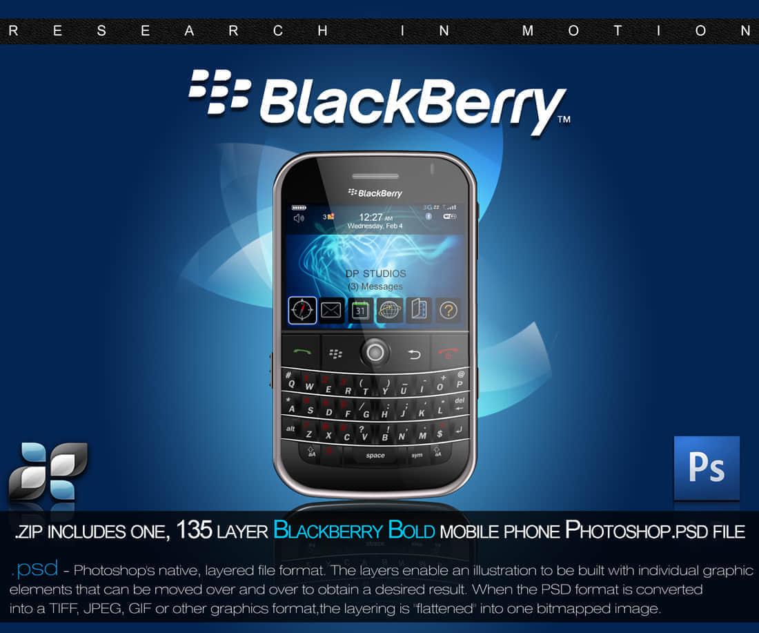 黑莓手机PSD分层素材