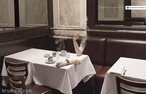 53个禁止吸烟的公益创意广告