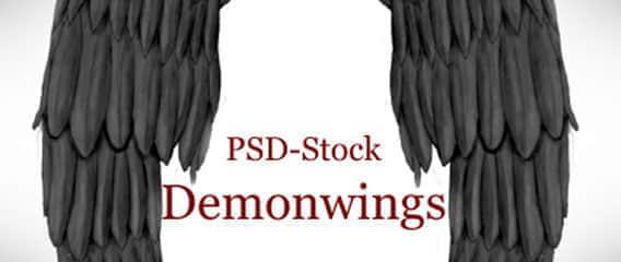 恶魔与天使的翅膀PSD素材