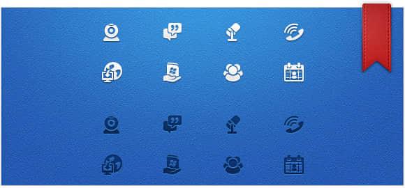 20个社会化图标PSD分层素材打包下载