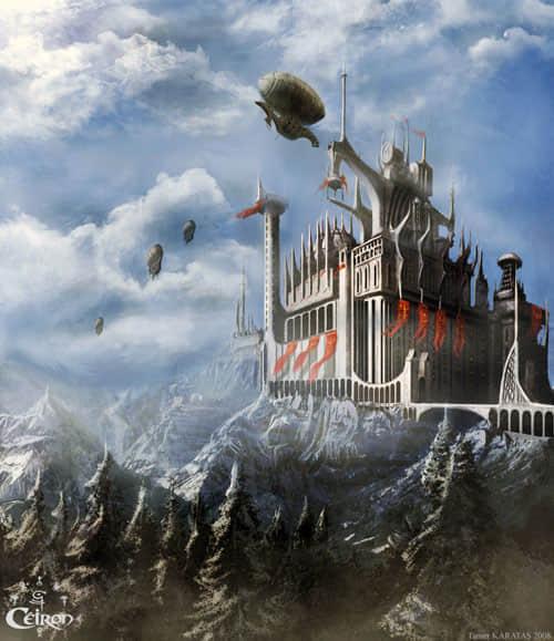 40张梦幻数字城堡插图欣赏