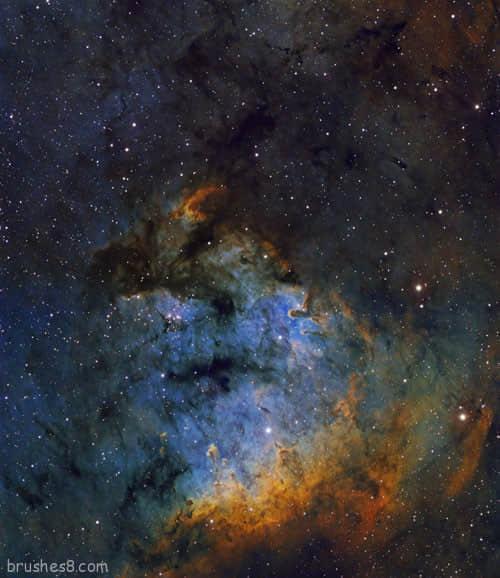 美丽的宇宙银河照片欣赏 : PS笔刷吧-笔刷免费下载