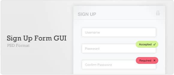 网站注册框UI素材下载