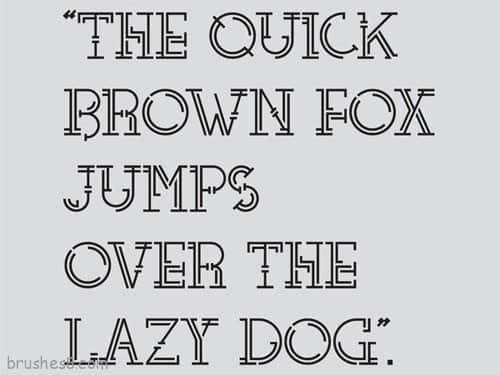 60个最新个性化英文字体免费下载