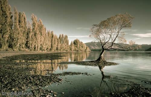 国外风景摄影《美丽的倒影照片》