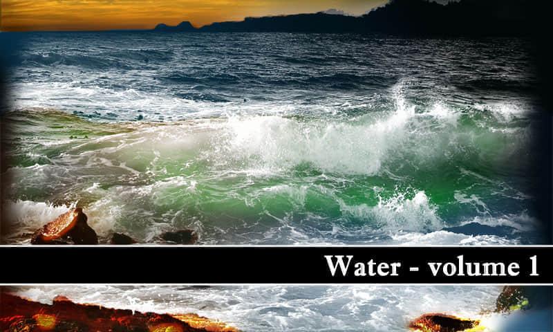 海水涨潮笔刷