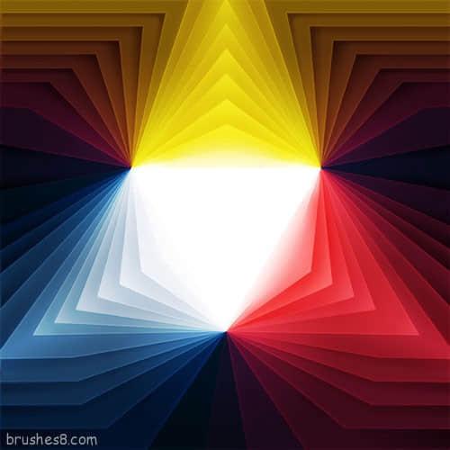 35个几何图形拼凑的漂亮插图