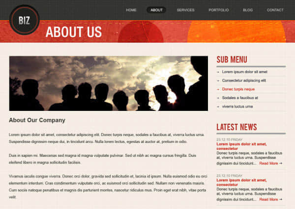 商务网站PSD分层模版下载