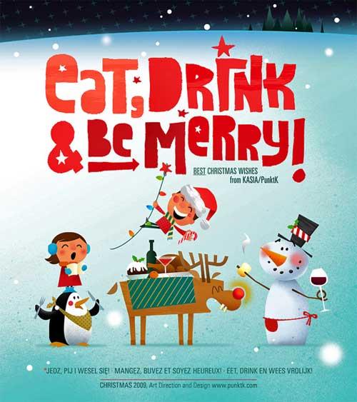 25张创意圣诞贺卡设计欣赏