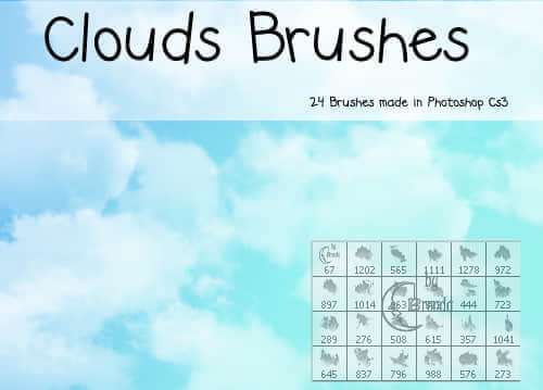 24种云彩笔刷组合下载