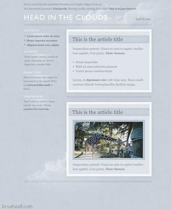 淡蓝色天空网站主题模版下载
