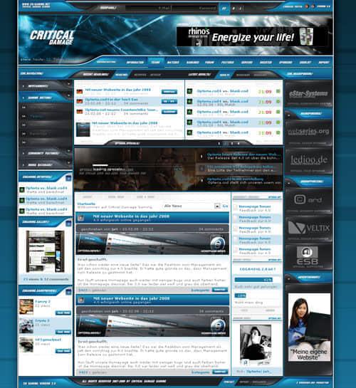 61个蓝色主色调网站设计欣赏